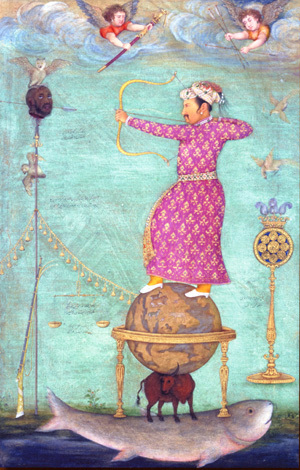 Jahangir shooting at the head of Malik Ambar